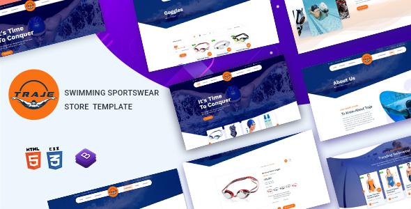 Traje – Swimming Sportswear Store HTML Template