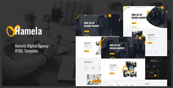 Hamela – Digital Agency Services HTML Template