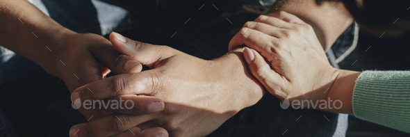 People support each other in a rehab session - Stock Photo - Images