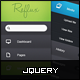jQuery Dashboard Vertical Navigation