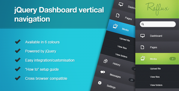 jQuery Dashboard Vertical Navigation - CodeCanyon Item for Sale