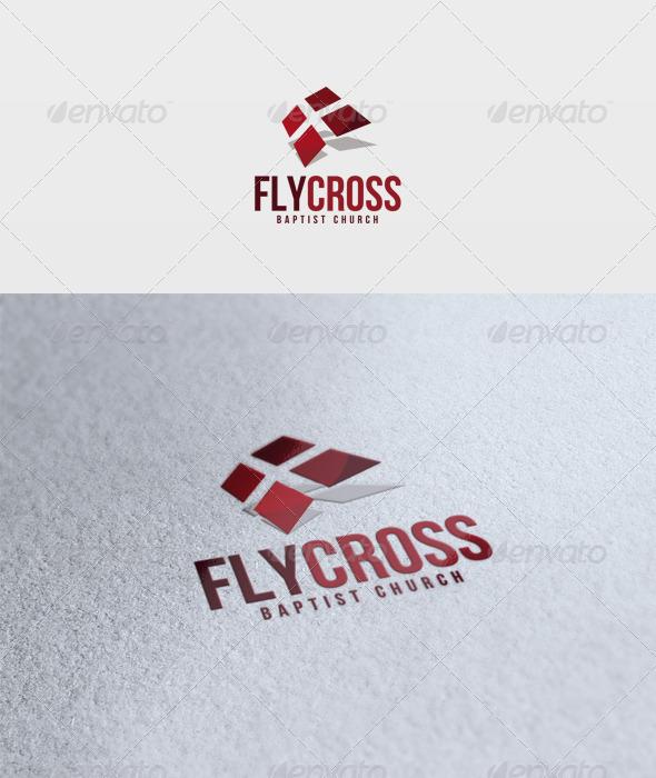Fly Cross Logo - Symbols Logo Templates