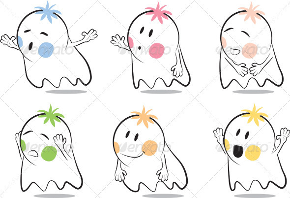 Baby Ghost Cartoon - Monsters Characters