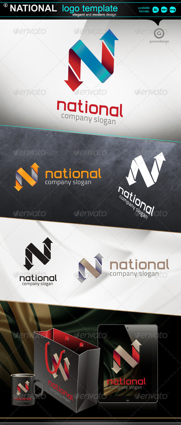 National - Letters Logo Templates