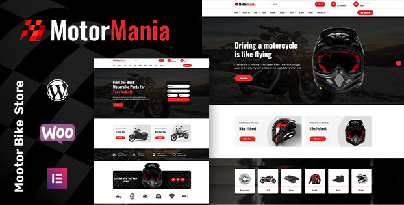 MotorMania - Motorcycle Accessories WooCommerce Theme