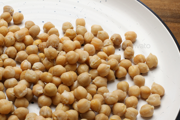Closeup of Chickpeas - Stock Photo - Images