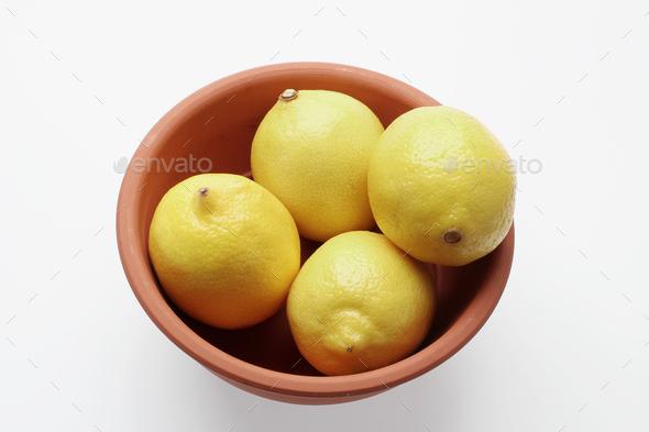 Bowl of Lemons - Stock Photo - Images