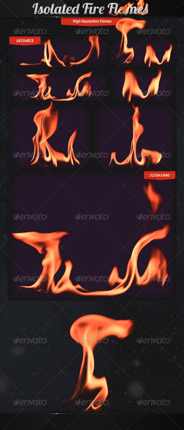 Isolated Fire Flames - Miscellaneous Isolated Objects