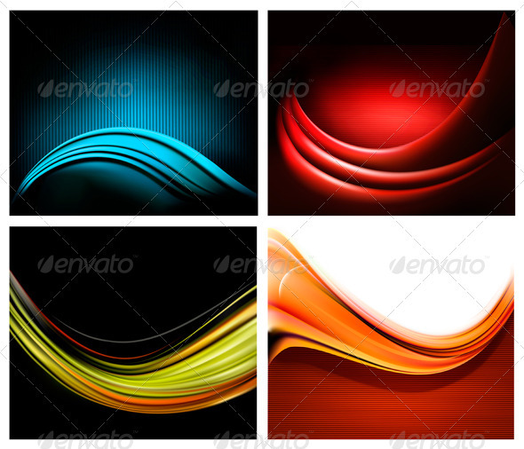 Set of business elegant colorful abstract backgrou - Backgrounds Business