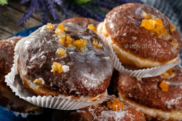 Traditional sweet donut. - Stock Photo - Images