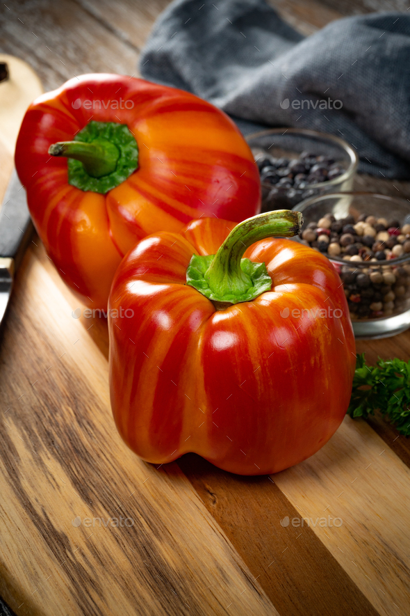 Sweet red pepper paprika. - Stock Photo - Images