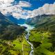 Beautiful Nature Norway natural landscape. lovatnet lake Lodal valley. - PhotoDune Item for Sale