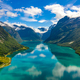 lovatnet lake Beautiful Nature Norway. - PhotoDune Item for Sale