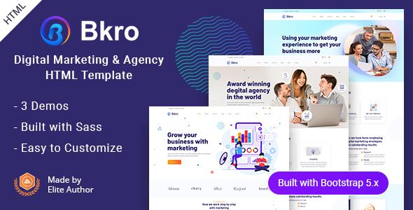 Bkro – Marketing & IT Agency HTML Template