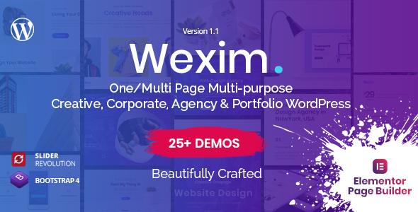 Wexim - Creative WordPress Theme