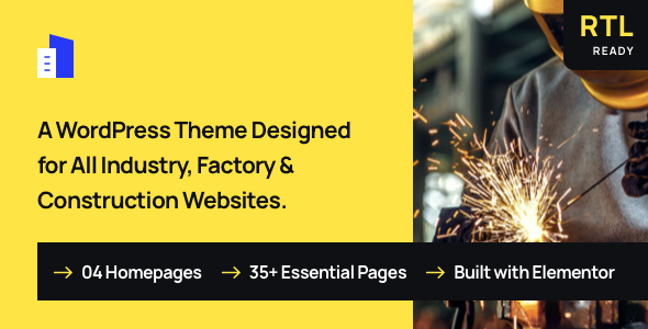 Trydus - Industrial & Factory WordPress Theme