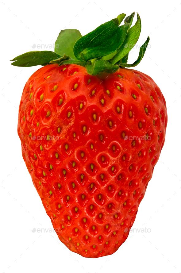 Isolated Organic Strawberry - Stock Photo - Images
