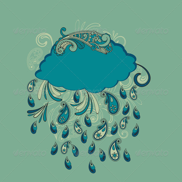 Vector Paisley Rain - Decorative Symbols Decorative