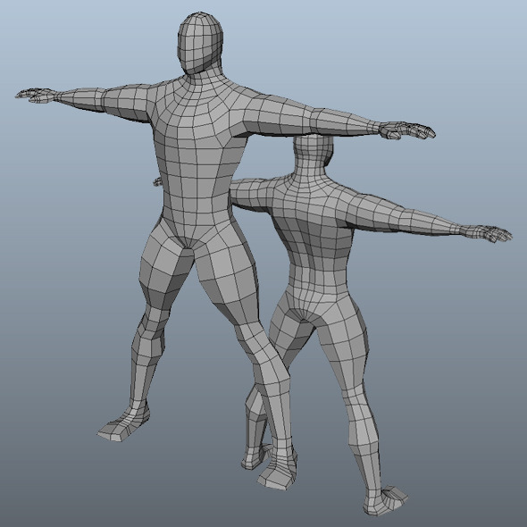 Base Mesh Man Model - 3DOcean Item for Sale