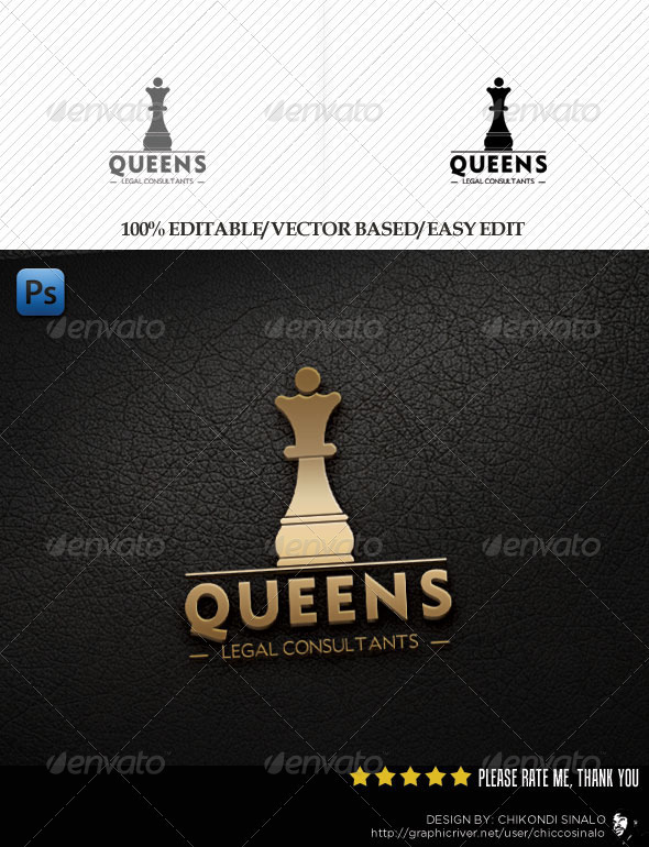 Queens Legal Consultants Logo - Objects Logo Templates