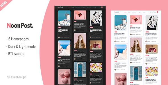 Super NoonPost - Personal Blog HTML Template