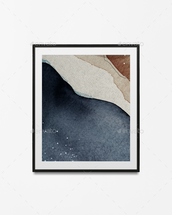 Watercolor frame in a frame psd - Stock Photo - Images