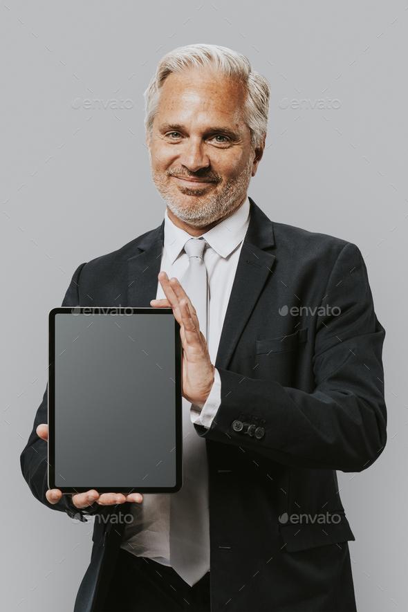 Businessman adult portrait occupation concept - Stock Photo - Images