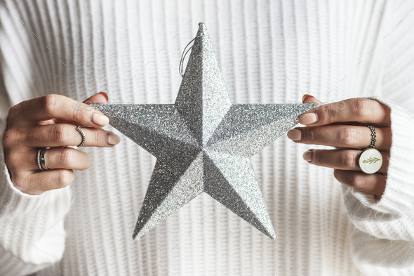 Decorative Christmas star ornament - Stock Photo - Images