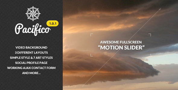 Pacifico – Fullscreen Template with Motion Slider