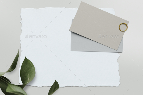 Blank white card template mockup - Stock Photo - Images