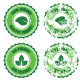 Green 100% Organic Natural ECO Retro Labels - GraphicRiver Item for Sale