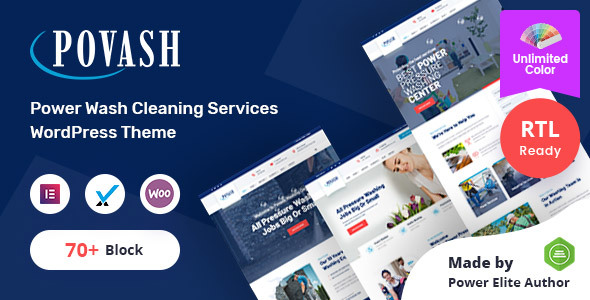 Povash   Power Wash  WordPress Theme + RTL