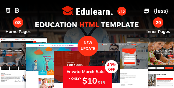 Edulearn - Education HTML Template
