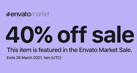 40% OFF SALE Ends 26 March 2021