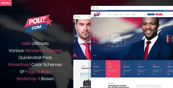 Polytico - Multipurpose Political And NGO Joomla Template