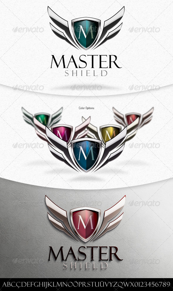 Master Shield Logo Template - Crests Logo Templates