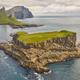 Faroe islands dramatic coastline viewed from helicopter. Vagar area - PhotoDune Item for Sale