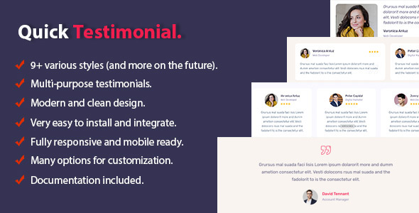 Download Quick Testimonial For WordPress Free Nulled