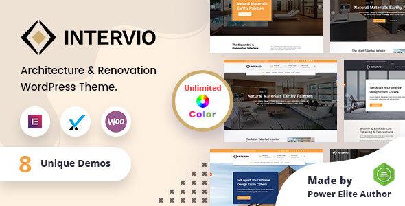Intervio - Interior and Architecture WordPress Theme + RTL