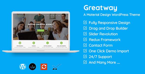 Greatway - Material Design WordPress Theme