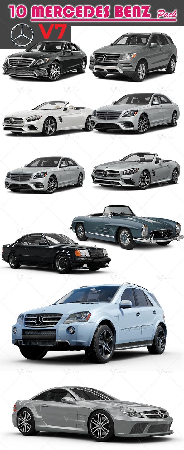 10 Mercedes Pack V8