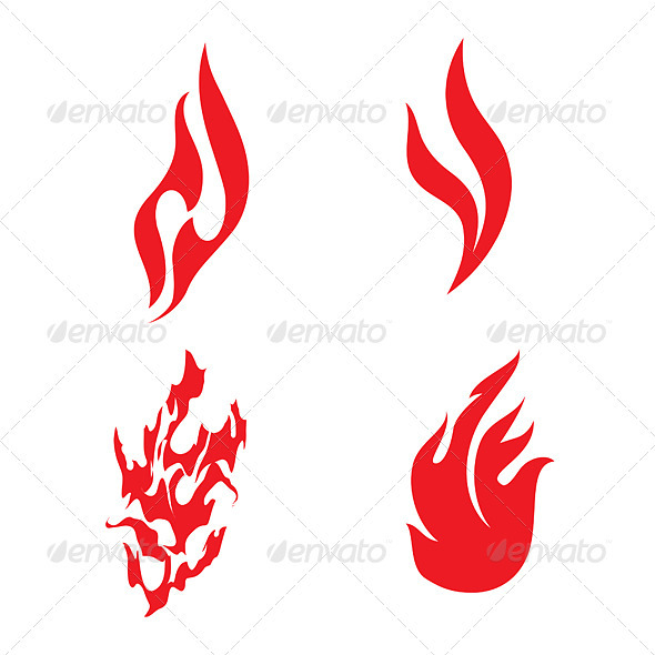 Fire Icons - Decorative Symbols Decorative