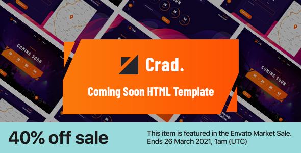 Incredible Crad - Creative Coming Soon HTML5 Template