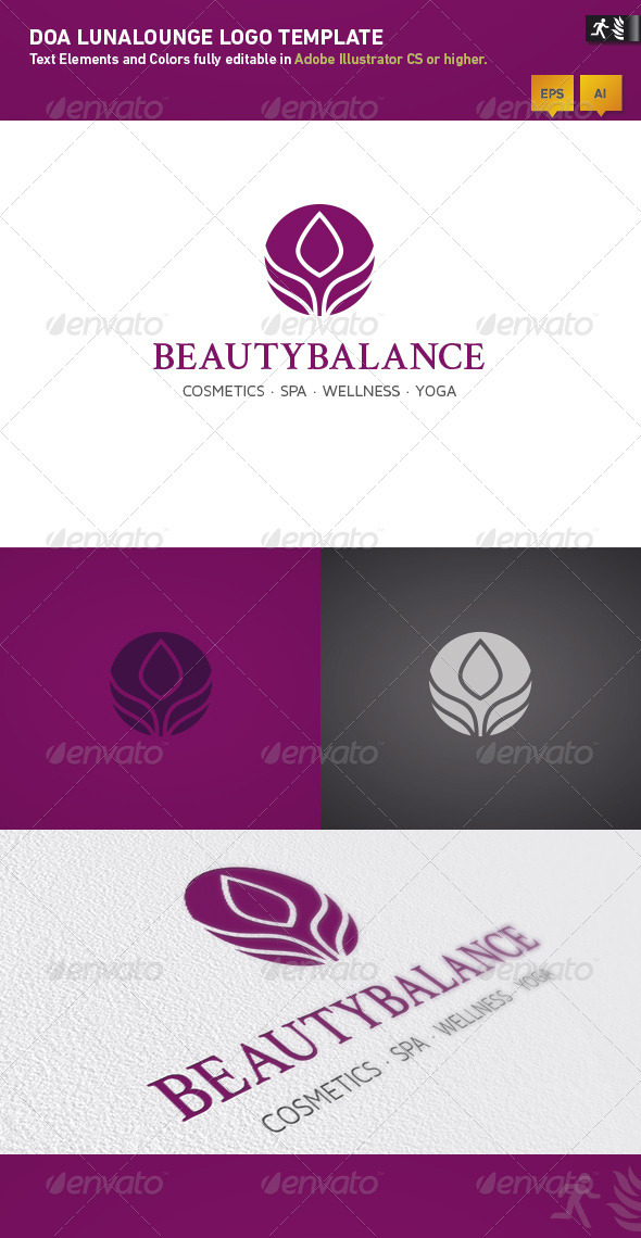 DOA Beautybalance Logo Template - Nature Logo Templates
