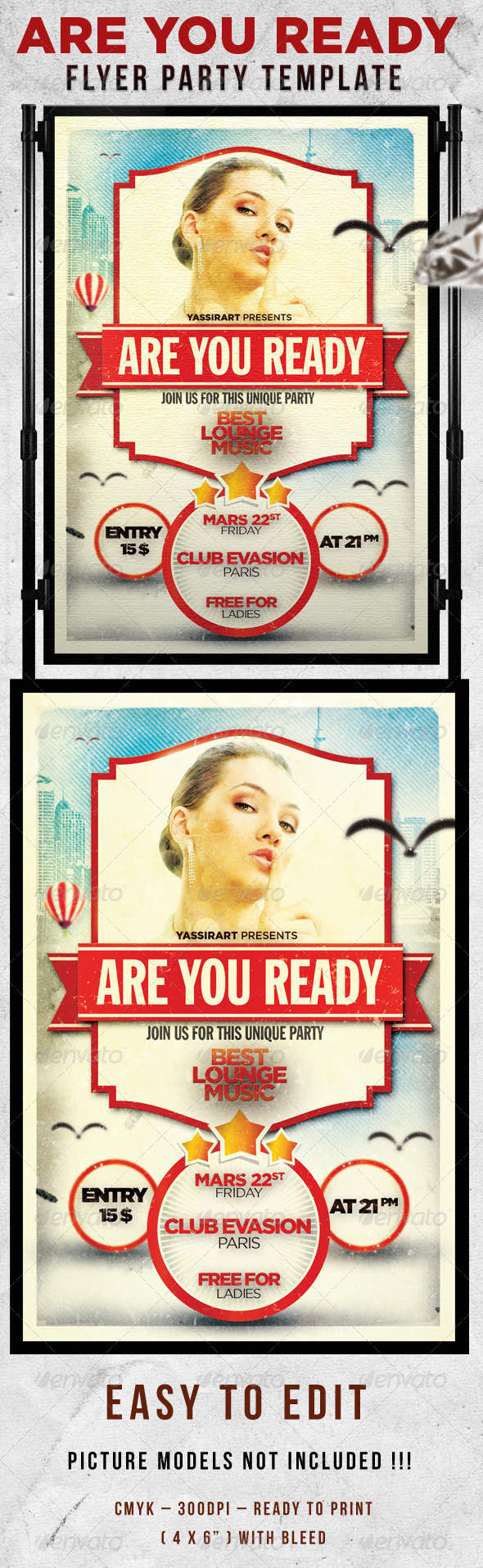 Are You Ready Flyer Template - Clubs & Parties Events