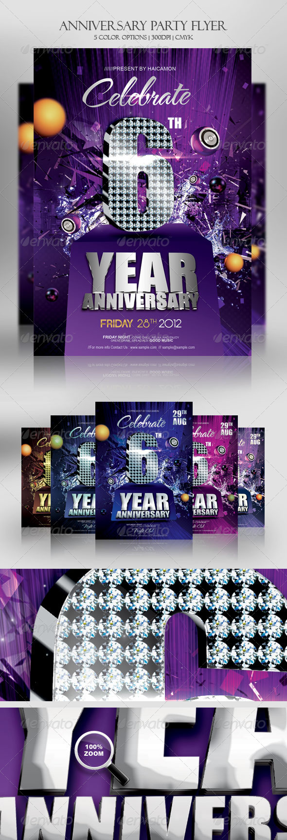 Anniversary Party Invitations Flyer - Miscellaneous Events