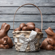 Delicious Easter chocolate bunny, eggs and sweets - PhotoDune Item for Sale