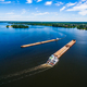 Aerial view of Barge or offshore vessel with cargo on the river. - PhotoDune Item for Sale