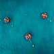 Aerial view of Blue Sea surface with buoys - PhotoDune Item for Sale