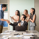 business people clapping in office after signing agreement - PhotoDune Item for Sale